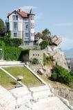 Amphithéâtre antique à Plovdiv, Bulgarie photos libres de droits