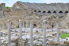 Amphithéâtre antique Images libres de droits