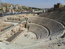 Amphithéâtre antique d'Amman Images stock