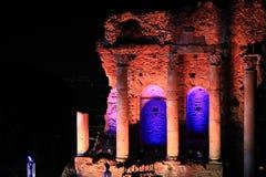 Amphithéâtre chez Taormina Image stock