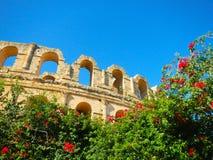Amphithéâtre d'Al-Jem images libres de droits