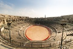 Amphithéâtre d'arène de Nîmes, Nîmes, France photos stock