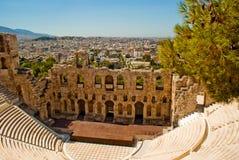 Amphithéâtre d'Athènes du parthenon Photo libre de droits