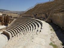 Amphithéâtre dans Jerash Photographie stock
