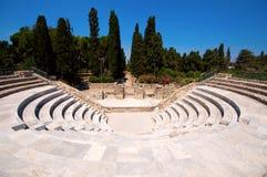 Amphithéâtre dans Kos Image libre de droits
