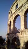 Amphithéâtre dans les Pula, Croatie Images stock