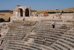 Amphithéâtre de Dougga, Beja, Tunisie Images stock