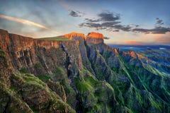 Amphithéâtre de Drakensberg en Afrique du Sud photographie stock