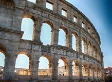 Amphithéâtre de la Croatie de Pula Image libre de droits