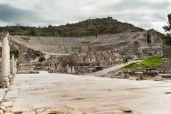 Amphithéâtre de ville antique d'Ephesus photographie stock