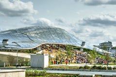 Amphithéâtre en parc de Zaryadye photos stock