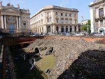 Amphithéâtre et église romains - †«Sicile de Catane Image libre de droits