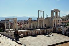 Amphithéâtre Plovdiv, Bulgarie. image libre de droits