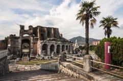 Amphithéâtre romain Photographie stock libre de droits