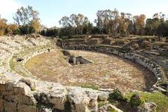 Amphithéâtre romain antique à Syracuse Voyage aux endroits historiques de l'Italie ext?rieur photo libre de droits