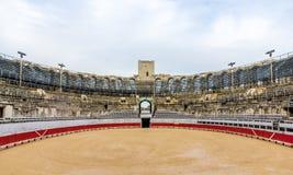 Amphithéâtre romain dans Arles - patrimoine mondial de l'UNESCO Photos stock