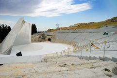 Amphithéâtre Syracuse, Sicile photographie stock