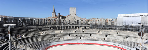 The amphithater of Arles on France Stock Image