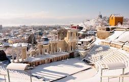 Amphitheater. Ancient Roman amphitheater in Plovdiv, Bulgaria Stock Photos