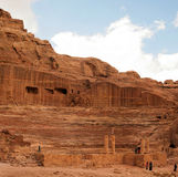 Amphitheater of the ancient city of Petra Royalty Free Stock Images