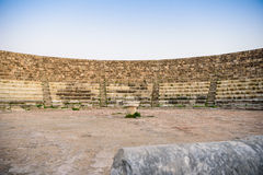 Amphitheater in ancient city of Salamis, Northern Cyprus. Stock Photo