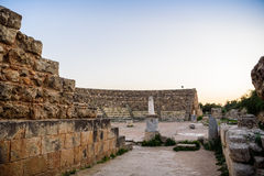 Amphitheater in ancient city of Salamis, Northern Cyprus. Stock Photography