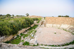 Amphitheater in ancient city of Salamis, Northern Cyprus. Royalty Free Stock Image
