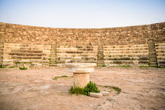 Amphitheater in ancient city of Salamis, Northern Cyprus. Stock Image