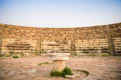 Amphitheater in ancient city of Salamis, Northern Cyprus. Stock Photos