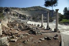 Amphitheater in ancient Ephesus, Turkey Stock Image