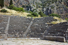 Amphitheater in Ancient Greek archaeological site of Delphi, Greece Stock Photography