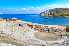 Amphitheater of ancient greek city knidos in Datca Stock Photos