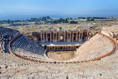 Amphitheater in ancient Hierapolis, Pamukkale, Turkey Stock Photo