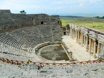 Amphitheater in ancient Hierapolis. Pamukkale. Turkey Stock Photo