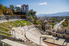 Amphitheater. An ancient amphitheater in Plovdiv, Bulgaria Royalty Free Stock Photo