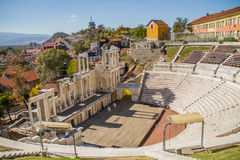 Amphitheater. An ancient amphitheater in Plovdiv, Bulgaria Stock Images