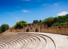 Amphitheater in ancient village Altos de Chavon - Stock Photos