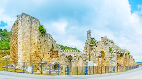Amphitheater in Antalya suburb Royalty Free Stock Photo