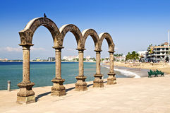 amphitheater arcos los mexico Puerto Vallarta Arkivbilder