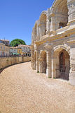 The amphitheater of arles Stock Photo