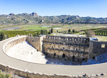 Amphitheater of Aspendos. In Turkey Stock Photo