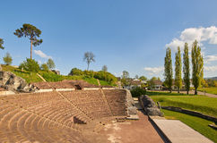 Amphitheater of Augusta Raurica Roman theater Royalty Free Stock Image