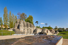 Amphitheater of Augusta Raurica Roman theater Royalty Free Stock Images