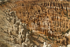 Amphitheater Bryce Canyon National Park. This is a close-up of hoodoos at Bryce Canyon National Park in Utah stock photography