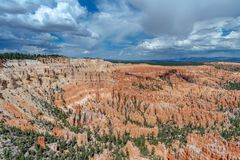 Amphitheater at Bryce point, Bryce Canyon, Utah stock photography