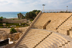 amphitheater caesarea Royaltyfri Bild