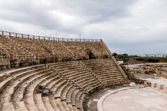 Amphitheater at Caesarea Maritima royalty free stock photos