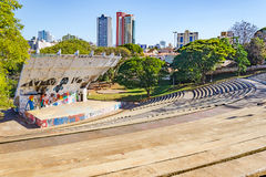 Amphitheater called Luigi Borghesi or Anfiteatro do Zerao. Londrina, Brazil - July 26, 2017: Amphitheater called Luigi Borghesi or Anfiteatro do Zerao localized Royalty Free Stock Photos
