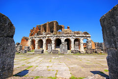 Amphitheater in Capua city, Italy. Santa Maria Capua Vetere Amphitheater in Capua city, Italy Stock Photo