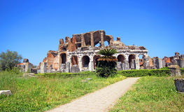 Amphitheater in Capua city, Italy. Santa Maria Capua Vetere Amphitheater in Capua city, Italy Royalty Free Stock Photography
